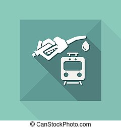 Train fuel - Vector icon