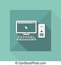Desktop pc flat icon