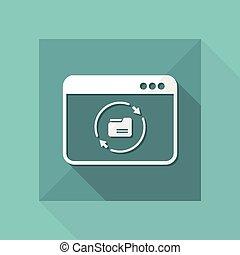 Udates folder window - Flat minimal icon