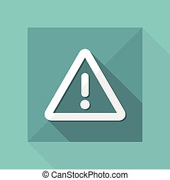 Warning symbol - Vector flat minimal icon