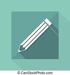 Pencil modern vector icon