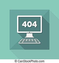 Error 404 - File not found - Vector web icon