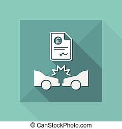 Car insurance payment - Sterling - Vector web icon