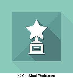 Star award - Vector web icon