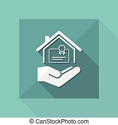 Home certification services - Vector icon