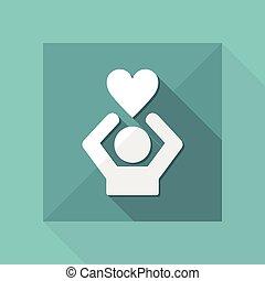 Express love - Vector web icon