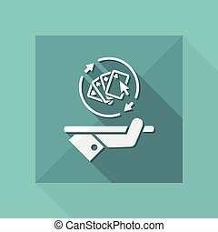 Steady poker gaming - Vector web icon