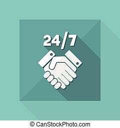Welcome 24/7 - Vector web icon