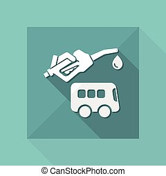 Bus fuel - Vector icon