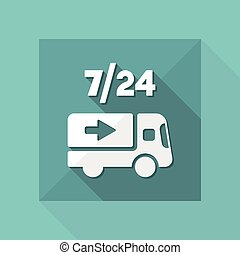 Delivery service 24/7 - Vector web icon