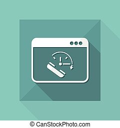 Full time online call services - Vector flat icon