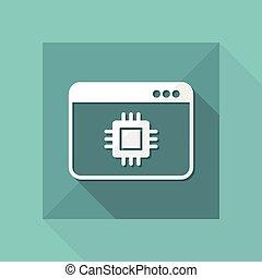 Computer processor - Vector web icon