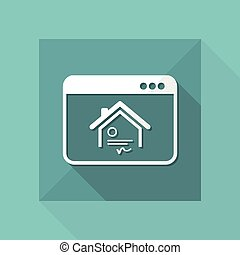 House - Online certificate - Vector flat icon