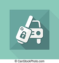 Car key - Vector icon