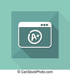 A+ top evalutation - Vector flat icon