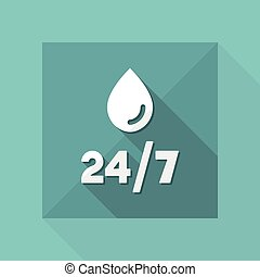 Steady water services - Vector web icon