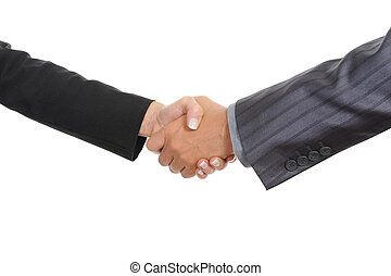 Handshake two business partners Isolated on white