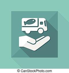 Food delivery service - Vector web icon