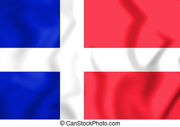 Flag_of_Saar_(1947–1956) - 3D Flag of the Saar Protectorate...