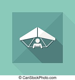 Hang glider concept - Minimal vector icon