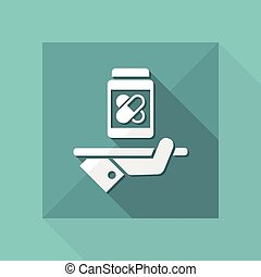 Pharma services - Vector web icon