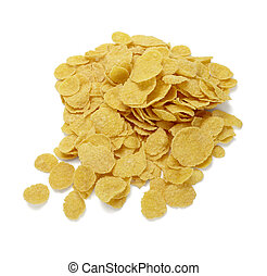 corn flakes cereals muesli food - close up of ready to use...