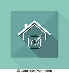 Real estate or hotel concept - Confirm of client decision -...