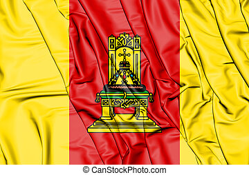 Flag_of_Tver_Oblast - 3D Flag of Tver Oblast, Russia. 3D...