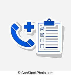 Medical consultration sign. Vector. New year bluish icon...