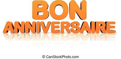 Orange happy birthday 3d banner. - Orange happy birthday 3d...