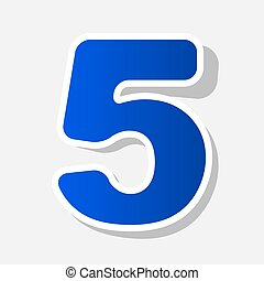 Number 5 sign design template element. Vector. New year...