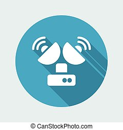 Vector illustration of single isolated antenna icon
