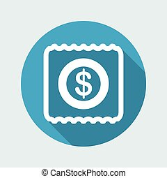 Vector illustration of single isolated pay icon