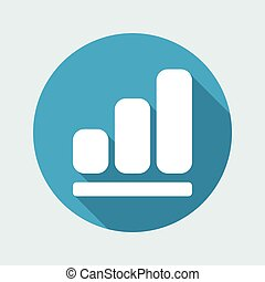 Vector illustration of single isolated increase icon