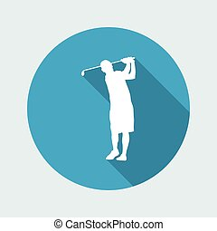 Vector illustration of single isolated golf icon