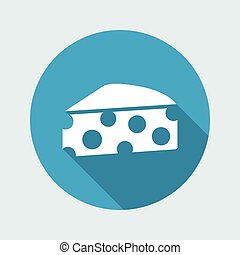 Vector illustration of single isolated cheese icon