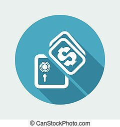 Vector illustration of single isolated safety box icon