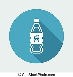Vector illustration of single isolated car wash liquid bottle icon
