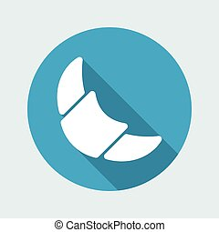 Vector illustration of croissant icon
