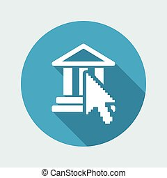 Vector illustration of single isolated temple icon