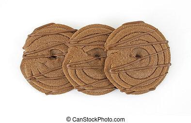 Fudge stripped chocolate cookies