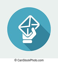 Vector illustration of single isolated mail icon