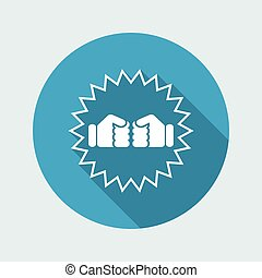 Vector illustration of single isolated boxing icon