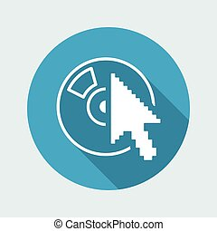 Vector illustration of single isolated player icon
