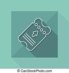 Ticket icon - Thin series
