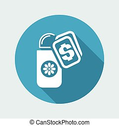 Vector illustration of deodorant buy icon