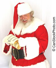 Santa Claus Checking His List - Santa Claus checking the...