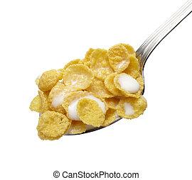 maíz, escamas, cereales, muesli, alimento