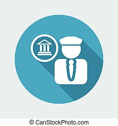 Vector illustration of single isolated guide icon