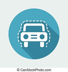 Vector illustration of vehicle insurance protection single isolated icon